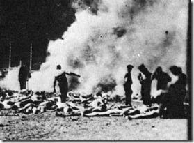 holocaust burning outside