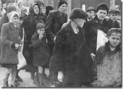 Jewishwomenchildrenat Auschwitz-Birkenau, walk to gas chambers