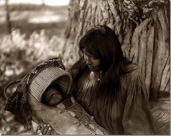 Apache-Mother-and-Baby