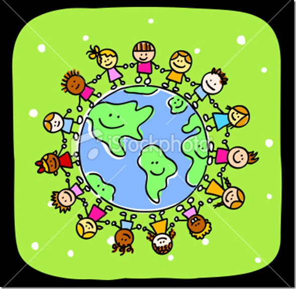 stock-illustration-10057474-green-happy-world-and-kids-holding-hands-peace-symbol-cartoon